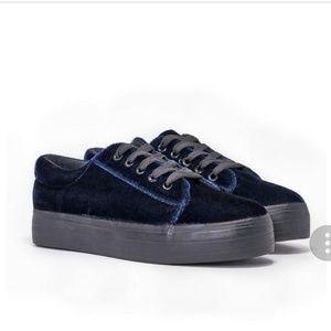 Nasty gal velvet sneakers